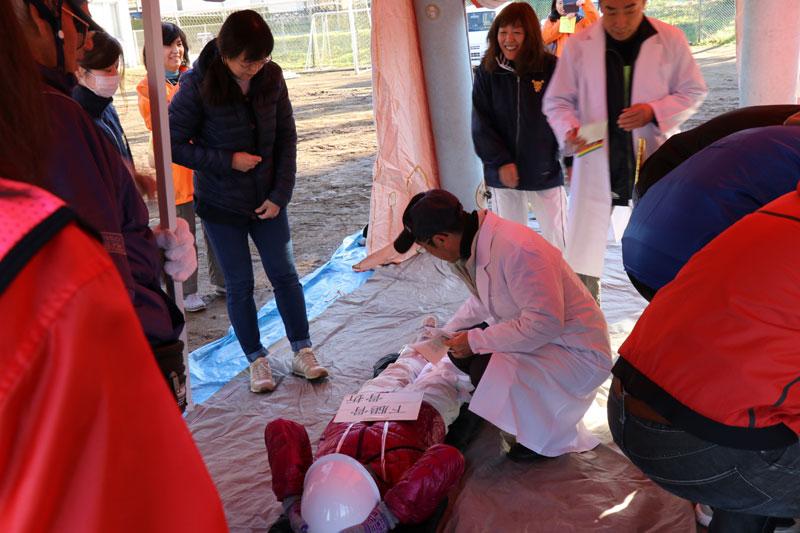 2017年防災訓練応急救護