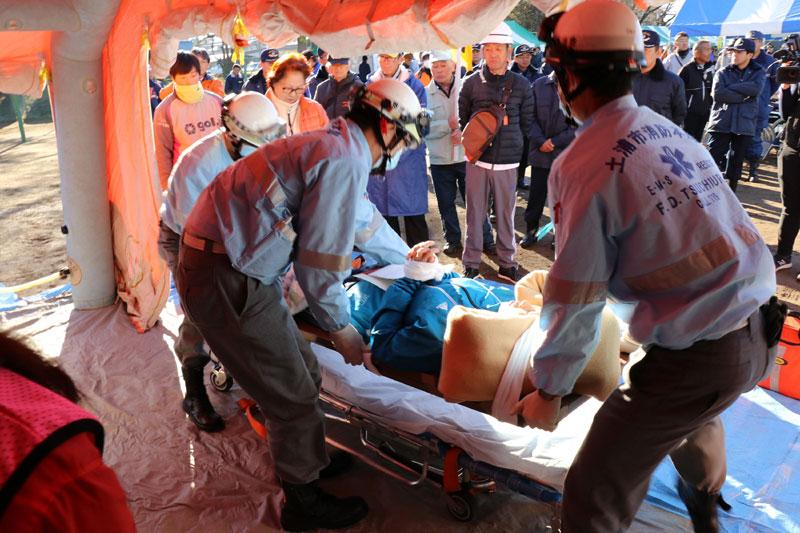 2017年度防災訓練応急救護